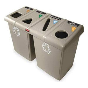 (Spec. Ord )Beige 92 gal recycling station  53