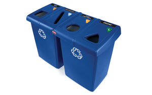"(Spec. Ord)(1792372) Blue 92 gal recycling station  53"" x 24"" x 35.5""H"