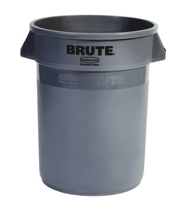 "Brute round container 20 GAL gray 19 1/2"" x 22 7/8"" H"