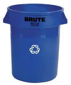 "Brute round recycling container 44 GAL 24"" x 31.5"" H"