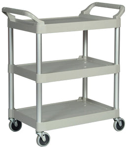 "Utility cart with 4"" swivel casters cap. 200 lbs platinum"