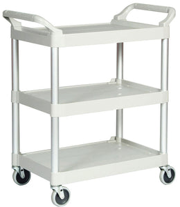 "(spec.ord) Utility cart with 4"" swivel casters cap. 200 lbs white"