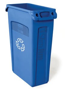 (Spec.ord*4*) Slim Jim recycling container with venting channels blue