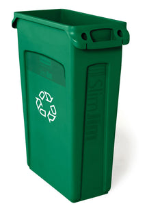 (spec.ord*4*) Slim Jim recycling container with venting channels green