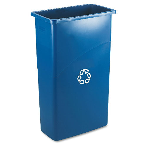 (Disc. Supp) Slim Jim recycling container 23 gal blue