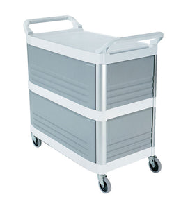 (spec.ord) Xtra utility cart enclosed on 3 sides cap. 300 lbs blanc