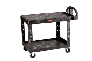 (Spec. Ord)HD 2 shelf utility cart flat shelf cap. 500 lbs black