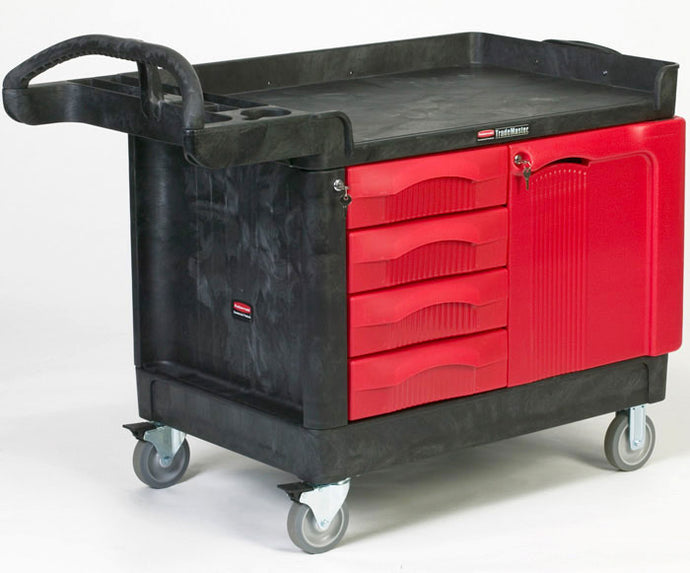 (spec.ord) TradeMaster cart with 4 drawers & cabinet cap. 750 lbs
