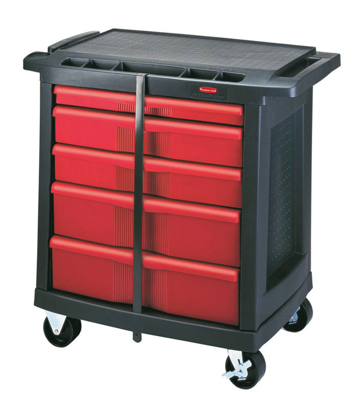 (spec.ord) 5 drawer mobile work center cap. 250 lbs black