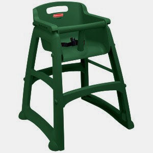 (spec.ord) Sturdy chair (assembled) without wheels green