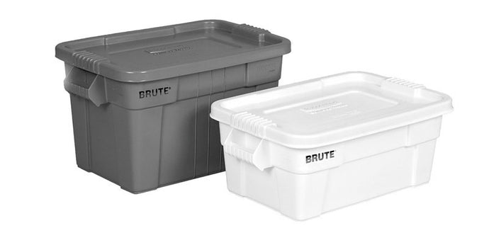 Brute tote with lid 14 gal gray 27.875