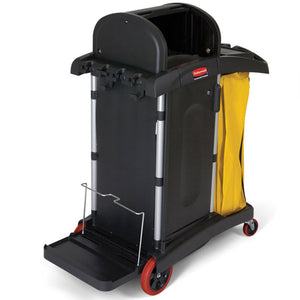 HIGH SECURITY BLACK JANITOR CART