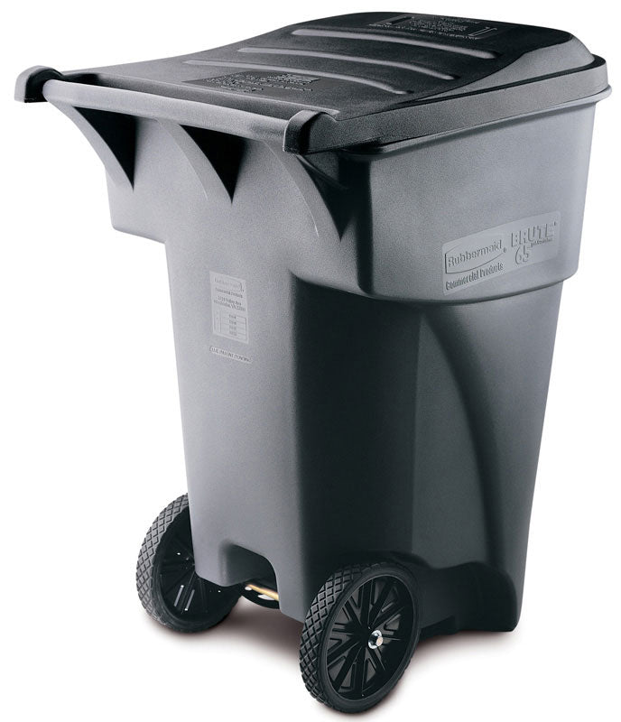 (RU3565) Roll Out Brute gray waste receptacle 94.75 gal with wheels