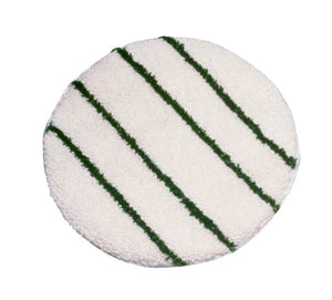 Carpet bonnet with scrub strips green or white (low speed machine) 19""
