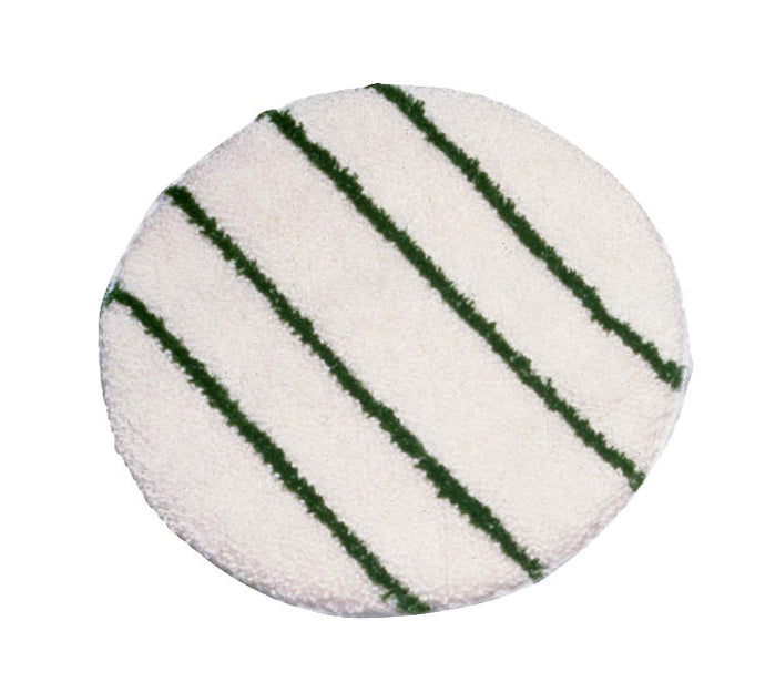 Carpet bonnet with scrub strips green or white (low speed machine) 19