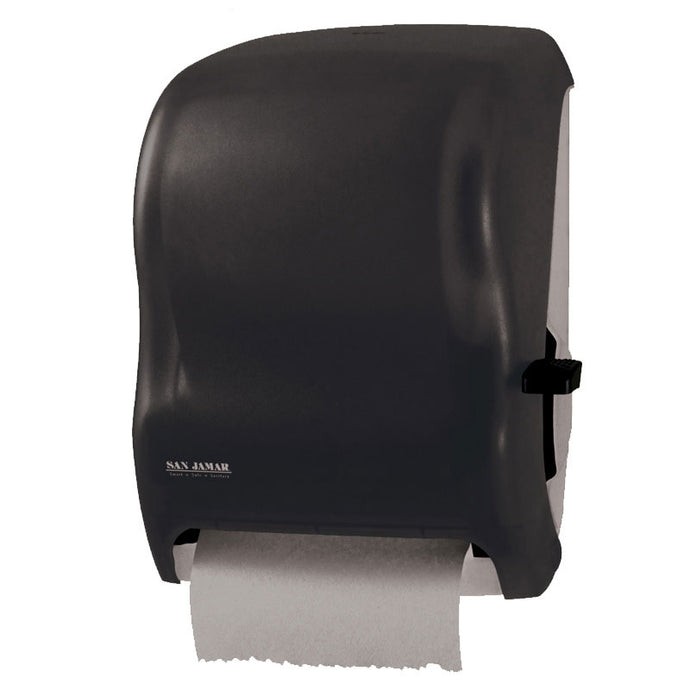 Paper roll towel black plastic dispenser with lever 15.5