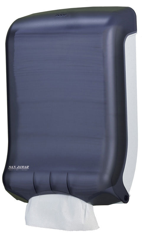 Simplicity black plastic hands free paper towel dispenser