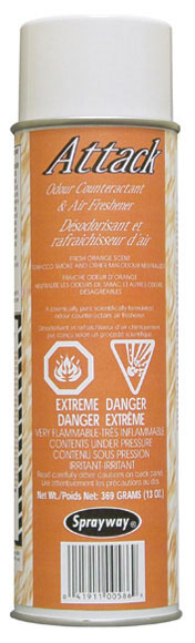 Aerosol air freshner 13 oz *attack orange* scent