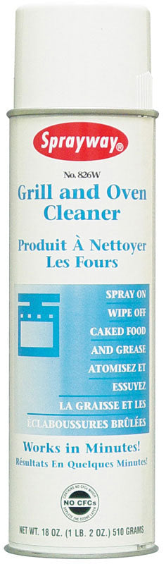 Aerosol grill and oven cleaner 18 oz