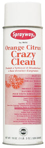 CRAZY CLEAN aerosol all purpose cleaner orange 19 oz