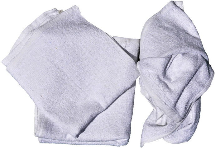 White bordered terry towel 16