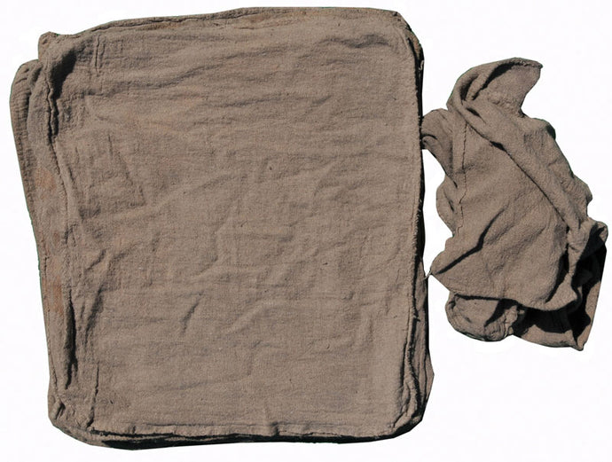 (54579) Seconds low end bordered cotton gray shop towel