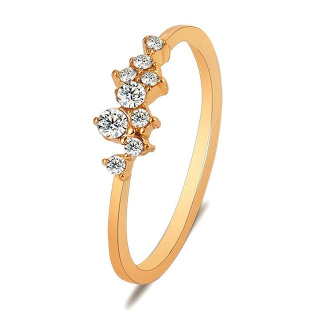 Crystal Rings For Women Gold Silver Deimosx