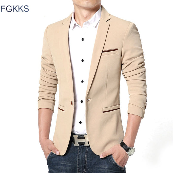 FGKKS New Arrival Luxury Men Blazer