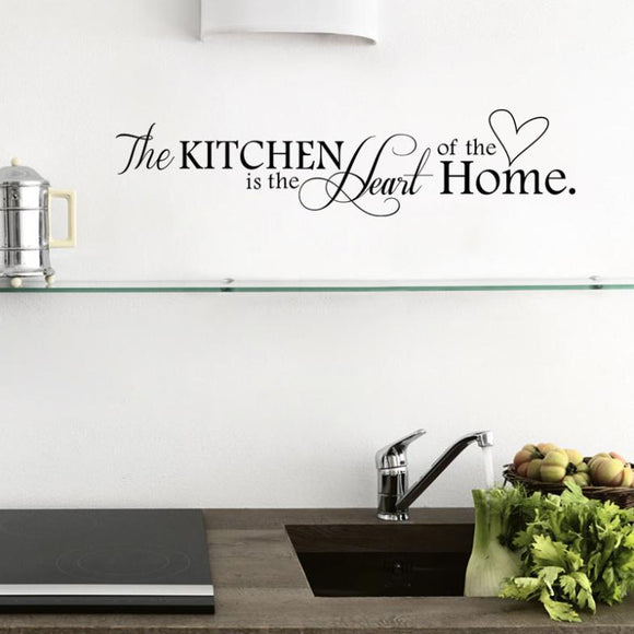 New Kitchen is Heart of the Home Letter Pattern Wall Sticker