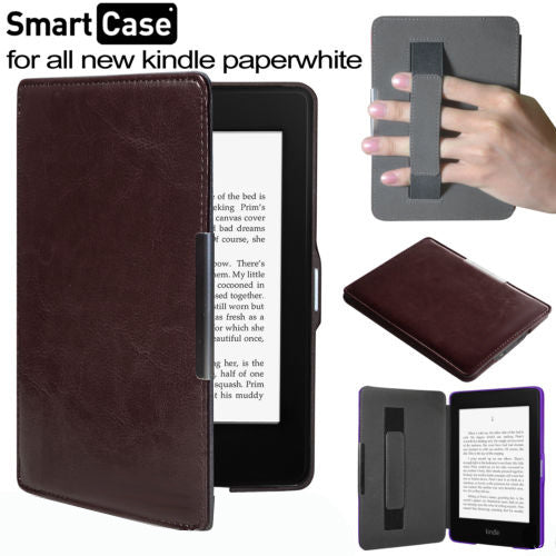 leather cover case with magnetic closure funda for  Amazon Kindle