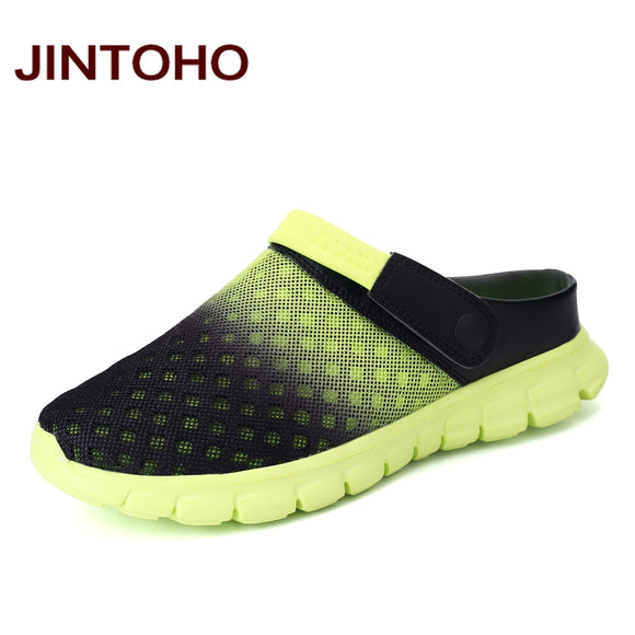 JINTOHO Summer Men Sandals Breathable Mesh Male Sandal Summer Beach Men Shoes Water Male Slippers Fashion Slides Cheap Shoes