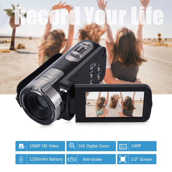Digital Video Camera HDV-302P 24MP 1080P Full HD Digital Camera 16X Digital Zoom