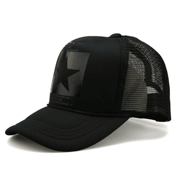 Fashion pointed Star Brand Baseball Cap Outdoor Baseball Hat Breathable