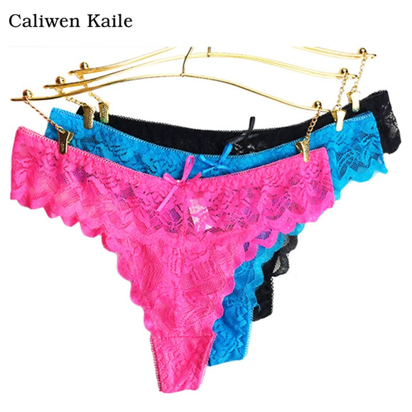 6colors lace Women's Sexy Thongs G-string Underwear Panties