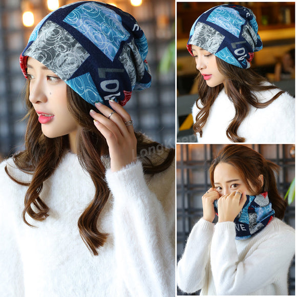 Long Keeper 2017 New Fashion Women Knit Warm Hat Scarf
