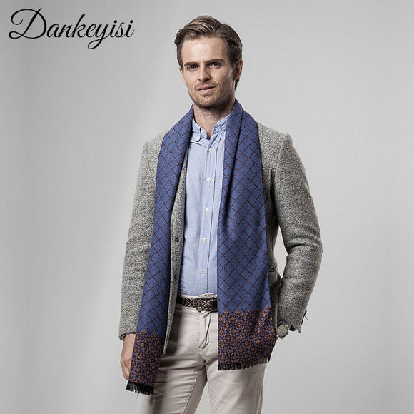 DANKEYISI Scarf Men Business Luxury Brand Plaid Cashmere Scarves