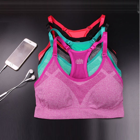 Fitness Sports Bra Women Running Yoga Bra Push Up Sport Bra Top Athletic Vest Yoga Top Padded Brassiere Sport Top Soutien Gorge