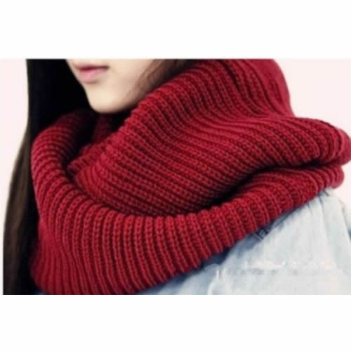 New Arrive Men Women's Nice Winter Warm Infinity 2Circle Cable Knit