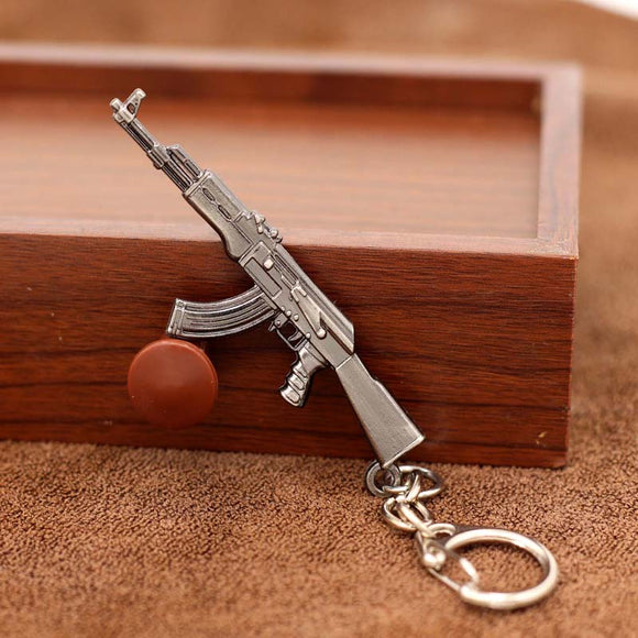 2017 New game M16 Novelty Items AK47 Guns Keychain pendant Trinket