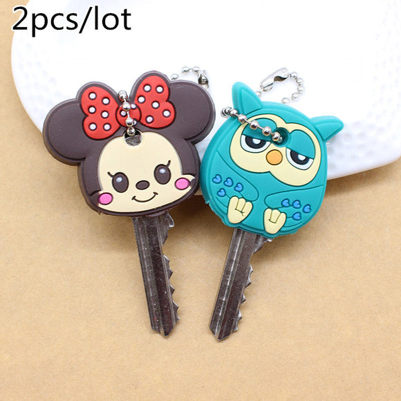 Cartoon Anime Cute Key Cover mickey stitch Bear Keychain