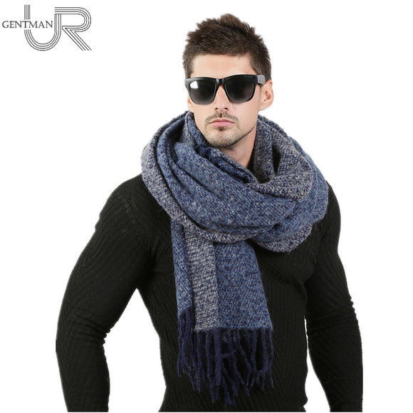 Newest 70cm*200cm Men Fashion Design Scarves Men Winter Wool Knitted