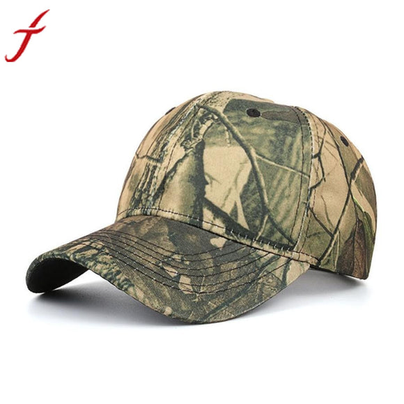 Washed Cotton Adjustable Camouflage color Baseball Cap