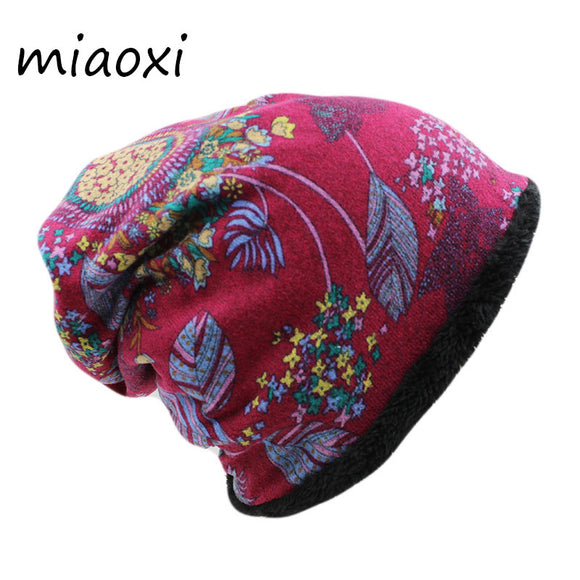 miaoxi Fashion Women Winter Hat Female Warm Cap Scarf