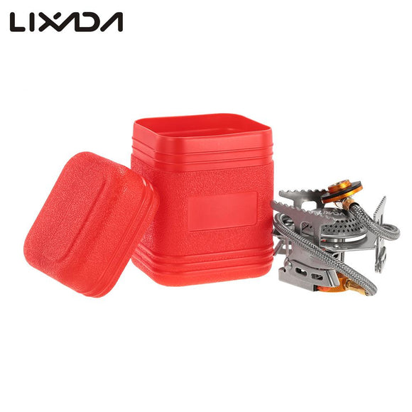 LIXADA 17*7cm Mini Camping Stoves Folding Outdoor Gas Stove Portable Furnace Cooking Picnic Split Stoves 3000W Cooker Burners