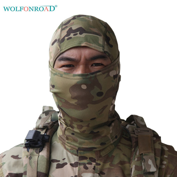 WOLFONROAD Men Tactical Headscarf Hiking Scarf Airsoft Hunting Face