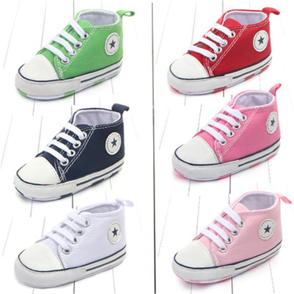 New Canvas Classic Sports Sneakers Newborn Baby Boys Girls