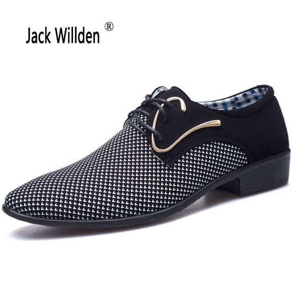 Jack Willden Office Men's Dress Suit Shoes Italian Style Wedding Casual Shoes Derby Shoes Man Leather Shoes Zapatos Hombre