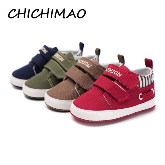 CHICHIMAO Infant Babies Boy Girl Shoes Sole Soft Canvas Solid Footwear