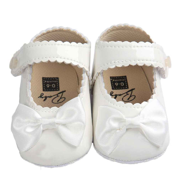 Baby Girl shoes lovely Bowknot Leather 5 color Shoes  Anti-Slip Sneakers