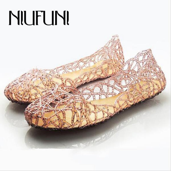 2018 New Women's Sandals Summer Shoes Woman Casual Jelly Shoes Tenis Feminino Flats Sandalias Femininas Fashion Bling Sandals